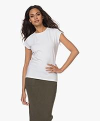 no man's land Stretch-Cotton T-shirt - White
