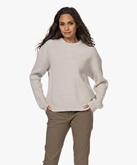 Filippa K Scarlett Rib Knitted Wool Sweater - Beige Melange