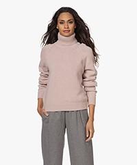 Filippa K Kathleen Wool-Cashmere Blend Turtleneck Sweater - Light Rose