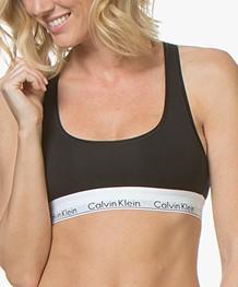 Calvin Klein Modern Cotton Bralette - Zwart/Wit