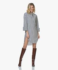 BOSS Etmo Poplin Shirt Dress - White/Grey