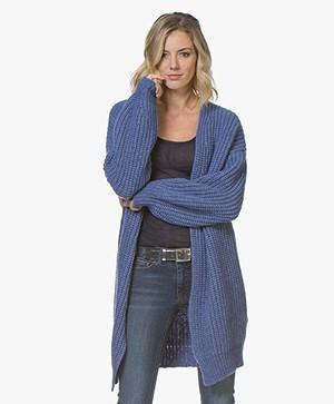 BOSS Wevelina Oversized Wolmix Vest - Bright Blue