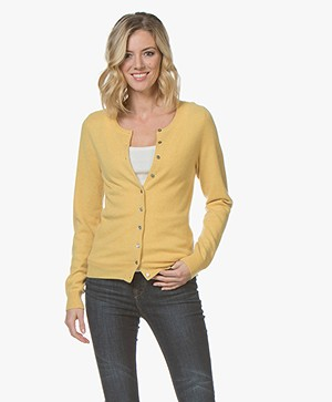 Repeat Cashmere Klassiek Kort Vest - Sunflower
