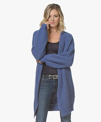 BOSS Wevelina Oversized Wool Blend Cardigan - Bright Blue