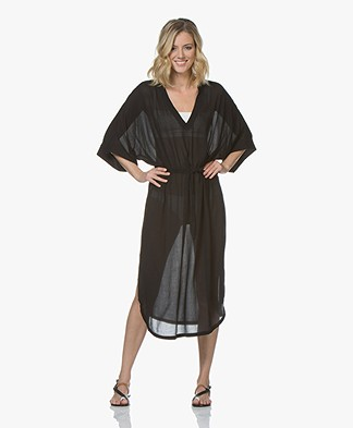 Filippa K Soft Sport Beach Kaftan Long - Zwart