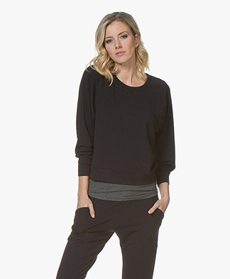 Filippa K Soft Sport Light Terry Sweatshirt - Night Sky
