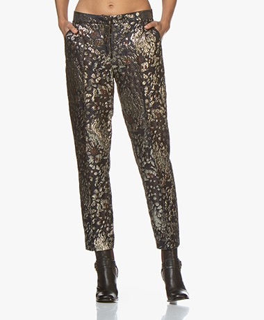 By Malene Birger Santsi Jacquard Pantalon - Night Blue
