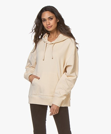 Filippa K Soft Sport Hooded Sweatshirt - Smoky Peach