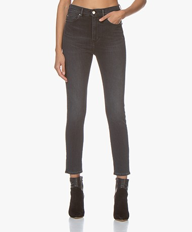 IRO Hauss Cropped Skinny Jeans - Used Black