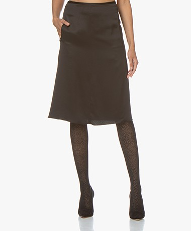By Malene Birger Livorno Satin Skirt - Black