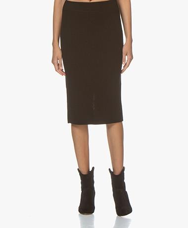 Drykorn Kama Knitted Pencil Skirt - Black