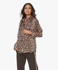 Equipment Rhaine Leopard Print Blouse - Brown/Black