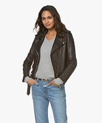 Current/Elliott The Shana Biker Jacket - Black