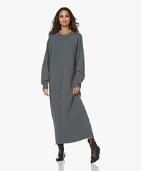 extreme cashmere N°106 Weird Knitted Cashmere Maxi Dress - Wave