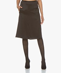 By Malene Birger Livorno Satin Skirt - Black