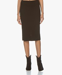 Drykorn Kama Knitted Pencil Skirt - Black