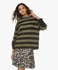 By Malene Birger Paprikano Striped Turtleneck Sweater - Winter Moss
