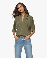By Malene Birger Bijana Crêpe Jersey T-shirt - Winter Moss