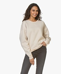 IRO Sandia Sweatshirt met Destroyed Details - Natural Beige