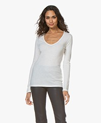 Majestic Filatures Carole Cashmere Blend Long Sleeve - Milk
