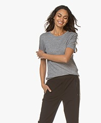 Filippa K Merino Wool T-shirt - Lichtgrijs