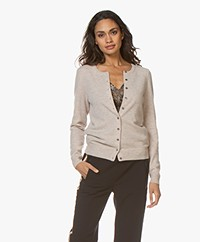 Repeat Cashmere Fine Knit Cardigan - Beige