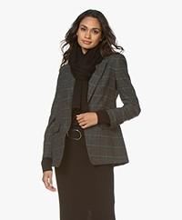 Alpaca Loca Knitted Wool Blend Scarf - Black