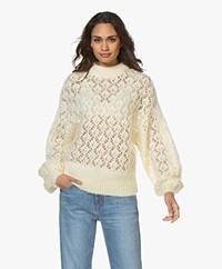 American Vintage Kokomood Oversized Ajour Sweater - Ecru