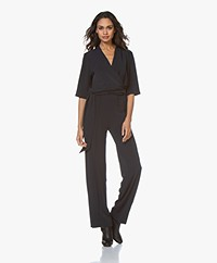 By Malene Birger Zhou Crêpe Jersey Jumpsuit - Night Blue