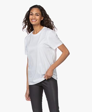 Joseph Katoenen  T-shirt met Korte Mouwen - Wit