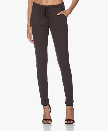 Woman By Earn Fae Tech Jersey Pants - Dark Brown