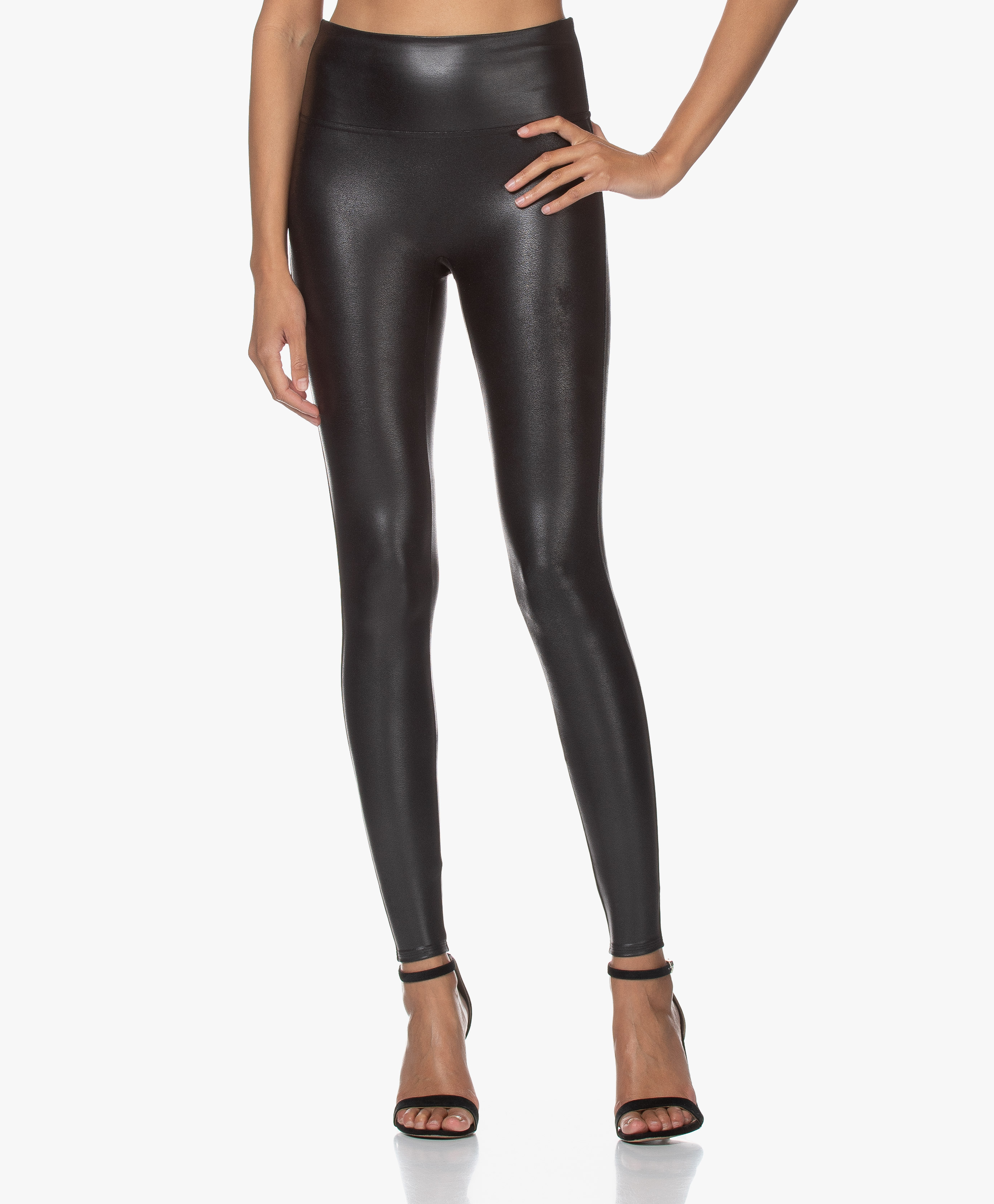 SPANX® Ready to Wow Faux Leather Leggings   Black   spx 20 20