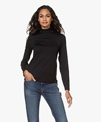 Organic Basics Tencel Mock Neck Long Sleeve - Black