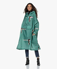 Rainkiss Stray Pixel Recycled Rain Poncho - Green