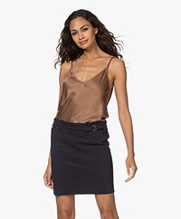 Resort Finest Satin Camisole Top - Camel