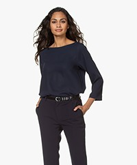 Woman by Earn Liva Boothals Blouse - Navy