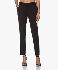 Woman by Earn Juliette Crêpe Pantalon - Zwart