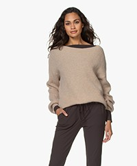 by-bar Soof Ribbed Boat Neck Pullover - Sand