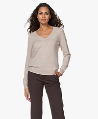 Repeat Cashmere V-hals Pullover - Beige