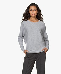 Filippa K Soft Sport Warm-up Cotton Blend Sweater - Light Grey