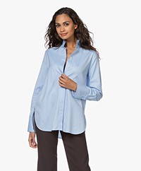 By Malene Birger Leijai Herringbone Blouse - Light Blue