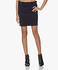 Woman by Earn Ike Bonded Tech Jersey Mini Skirt - Navy