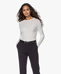 Drykorn Erma Structured Long Sleeve - Off-white