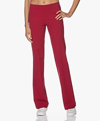 LaDress Siena Travel Jersey Flared Broek - Crimson
