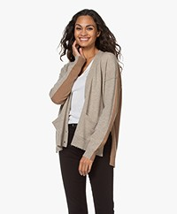 Zadig & Voltaire Scarlett Two-tone Cardigan - Greige/Camel