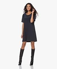 Norma Kamali Tech Jersey Boxy T-shirt Dress - Pewter