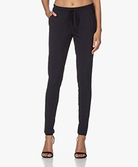 Woman By Earn Fae Tech Jersey Pants - Navy