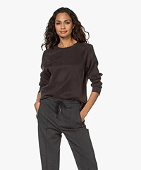 Drykorn Delania Cupromix Blouse - Espresso
