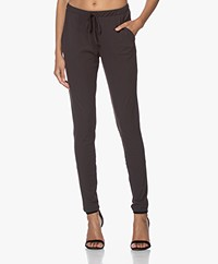 Woman By Earn Fae Tech Jersey Pants - Dark Brown