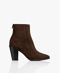 Rag & Bone Rover High Suede Leather Ankle Boots - Dark Truffle